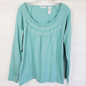 Liz & Co NWT Aqua Knit Top